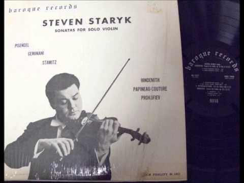 Steven Staryk - Sonatas for Solo Violin