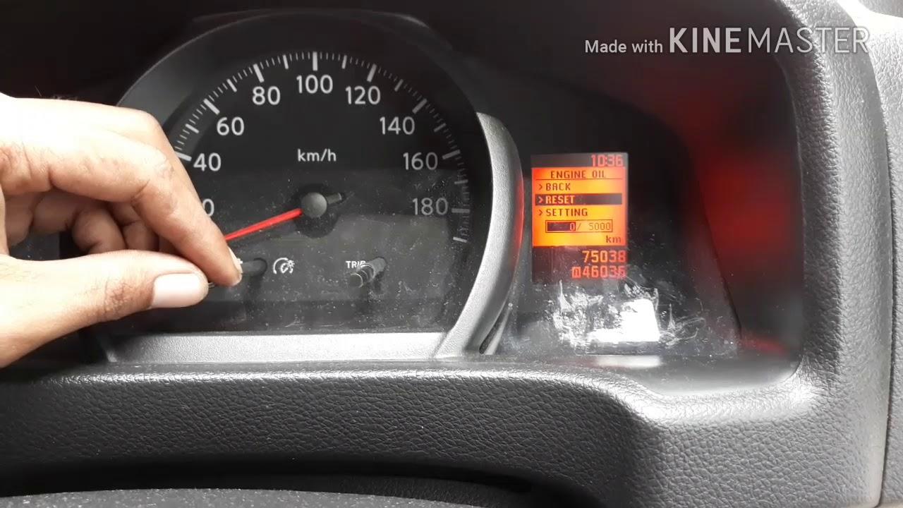 Mengatur Maintenance Odometer Nissan Evalia