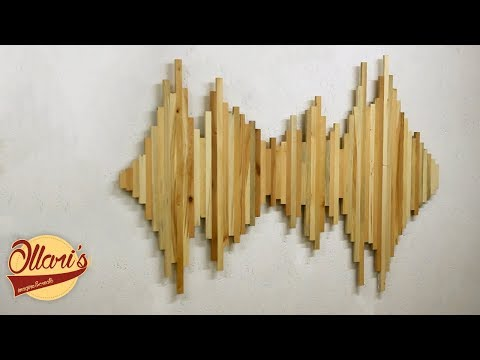 Making an LED Backlit Wall Art from Pallet wood