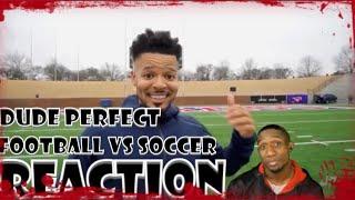 Dude Perfect Trick Shots Football vs Soccer | Reaction