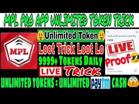 🤑Mpl Pro App Ha©k Trick 💰 || 🤑Earn Unlimited Tokens 💰 || 9999+ Token  Daily || 🔴Live Ha©k Trick