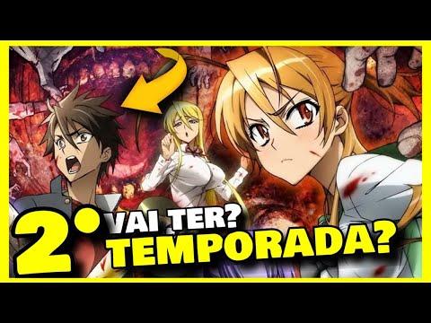 Highschool Of The Dead 2 Temtporada Vai Ter Anime Highschool Of