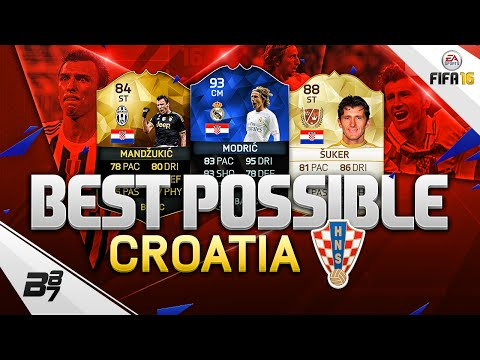 THE BEST POSSIBLE CROATIA SQUAD! w/ TOTY MODRIC AND SUKER!!! | FIFA 16 ULTIMATE TEAM