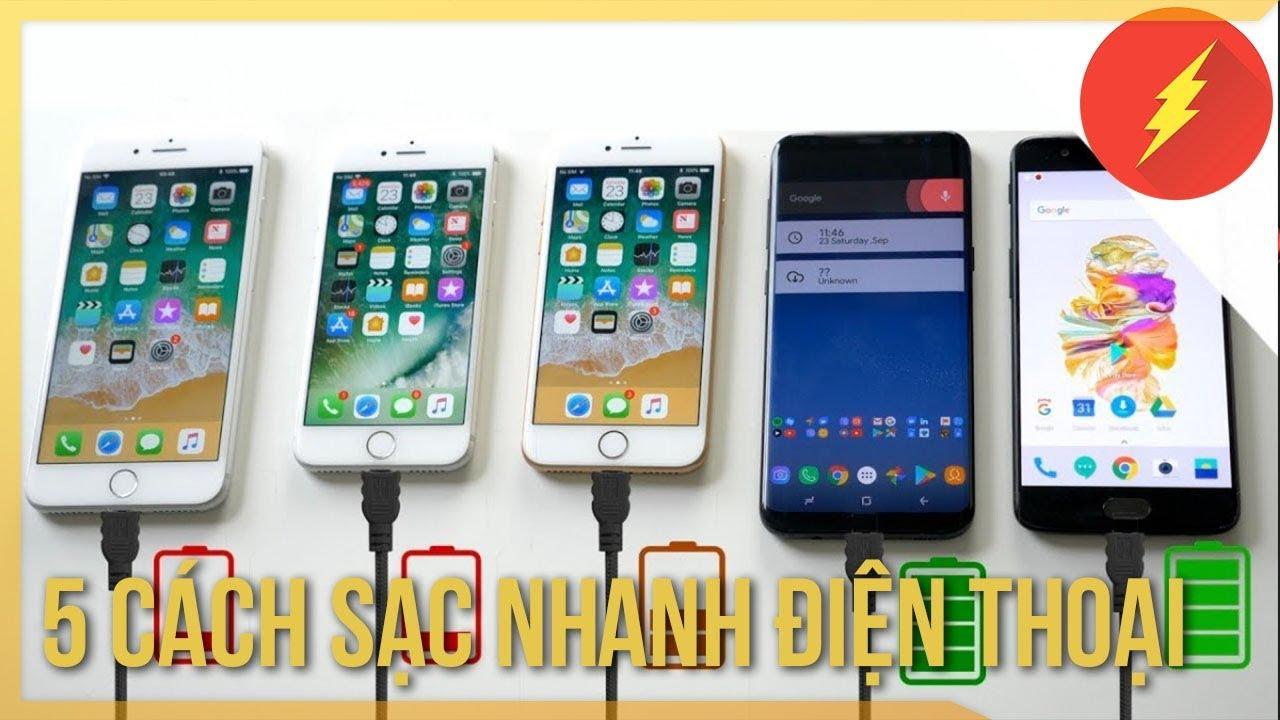 5 cách sạc pin điện thoại nhanh