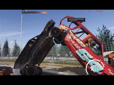 Wreckfest: Online Bangers MOD Crash Compilation 3