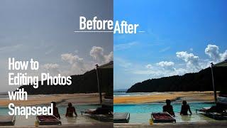 如何使用 Snapseed 修照片,創造海灘藍天白雲(How to Editing Photos with Snapseed Tutorial)