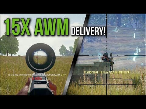 PUBG - 15x AWM DELIVERY and Player VANISHES! PlayerUnknown's Battlegrounds Gameplay | Mellun Gaming