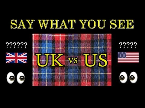 AMERICAN Vs BRITISH English **50 DIFFERENCES**