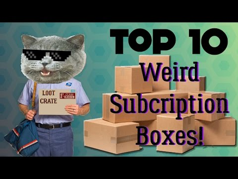 Top 10 - Weird Subscription Boxes