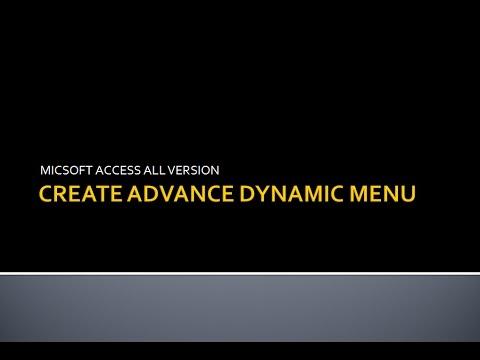 MIcrosoft Access Dynamic Menu | Advance Design | After Login