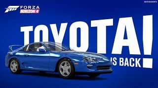 Return of Toyota in Forza Horizon 4 - Official Announcement