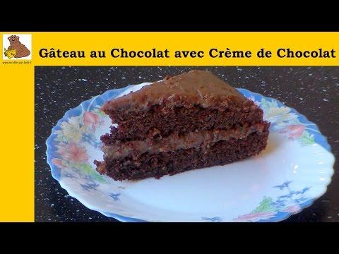 gâteau-au-chocolat-avec-crème-de-chocolat