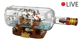 Ship in a Bottle LIVE BUILD ! LEGO Ideas (Full Video)