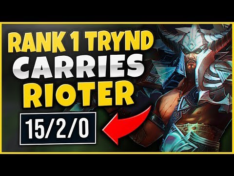 (NEW LVL 1 STRAT) CHALLENGER TRYND HARD CARRIES RIOTER!  TRYNDAMERE TOP GAMEPLAY - League of Legends