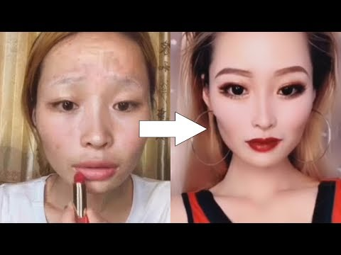 Viral asian makeup transformation tutorial reaction