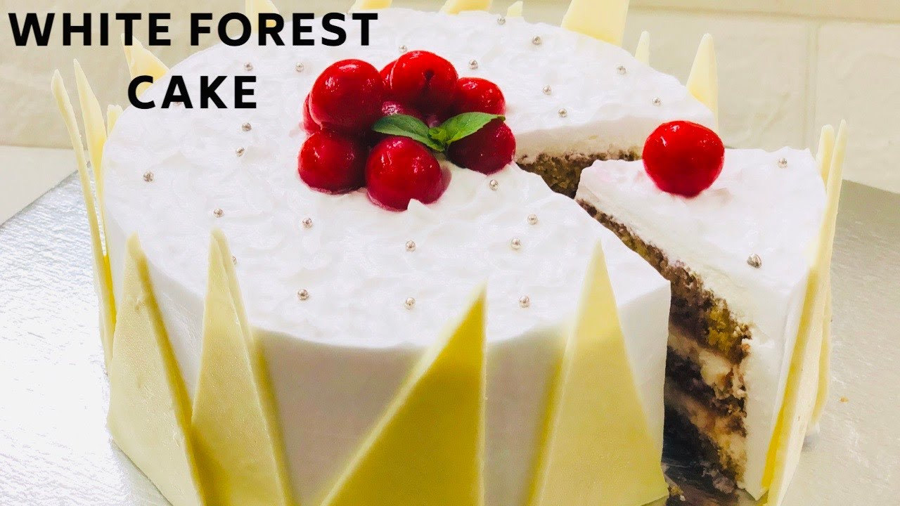 White Forest Cake Recipe | Step by Step Soft and Spongy white forest cake#whiteforestcakewithoutoven