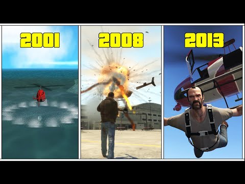 Evolution Of Helicopter DETAILS In GTA Games! (III Vs VC Vs SA Vs IV Vs V)