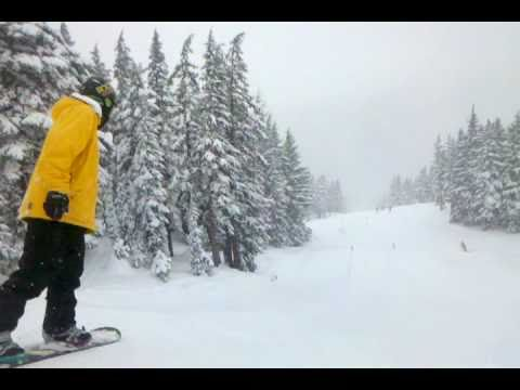 Travis Seaton in I Park at Mt. Bachelor