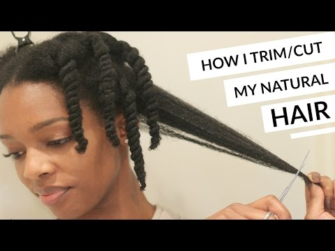 HOW I TRIM/CUT MY NATURAL HAIR