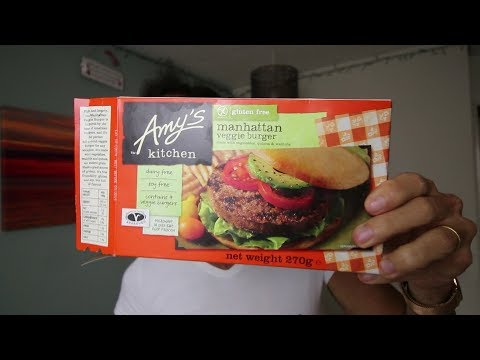 Amy's Manhattan veggie burger (Vegan) Taste Test and Food Review