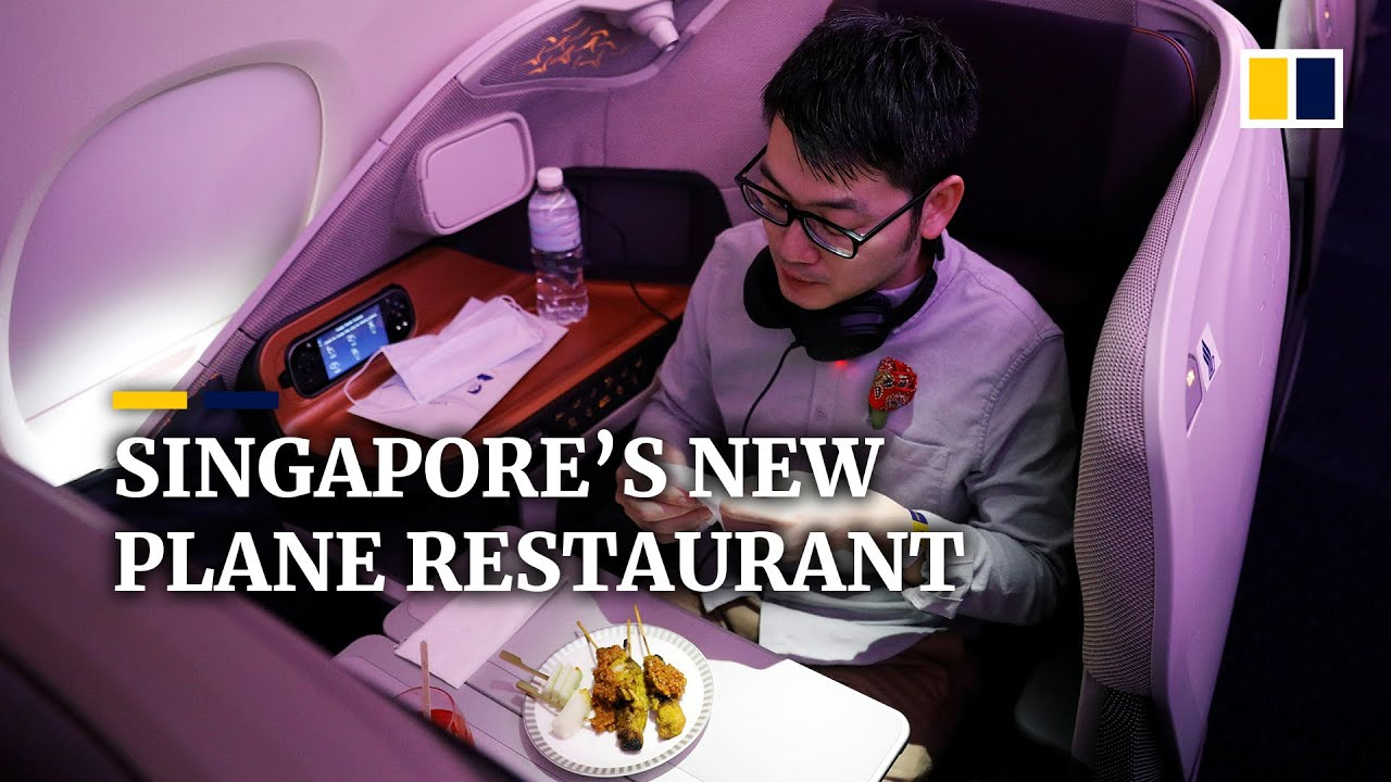 Grounded plane serves as restaurant to help Singapore Airlines stay aloft during Covid-19 pandemic
