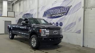 2019 Ford Super Duty F-350 SRW CrewCab Platinum W/ 6.7L Power Stroke Overview | Boundary Ford