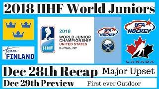 2018 World Juniors Recap Dec 28th - Preview Dec 29th CAN vs USA