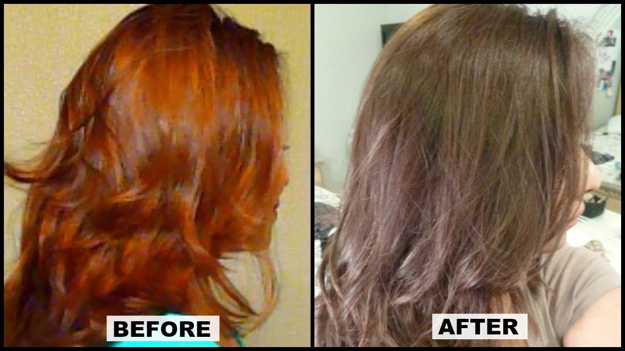"How To Tone Brassy Orange Hair At Home W Results ""� L"