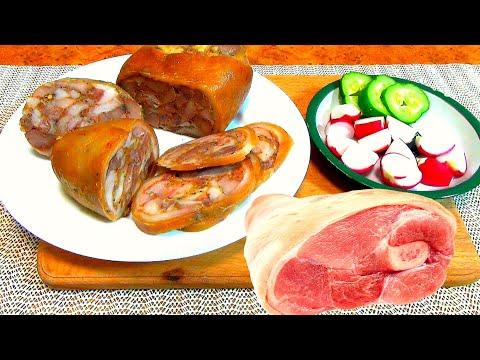 Фаршированная рулька.  Домашние рецепты, вкусная и полезная еда - сальтисон.