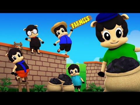 Baa Baa Black Sheep Sat On The Wall | Original Nursery Rhymes | Kids Song by Farmees