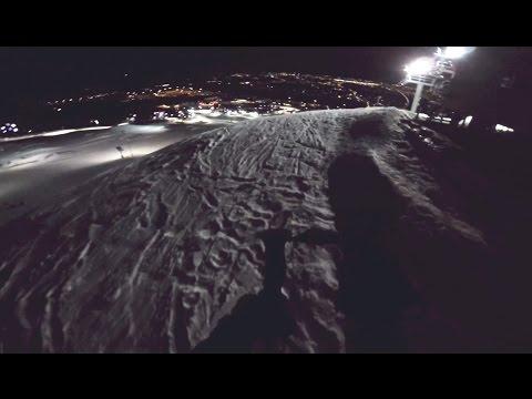 Night Skiing At Canada Olympic Park