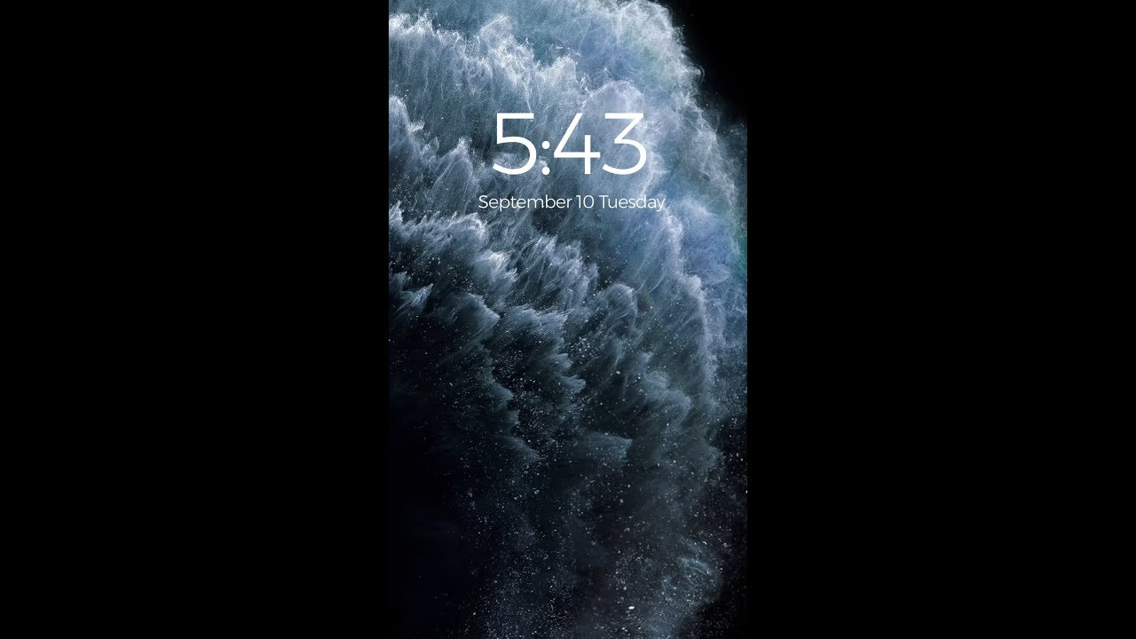 Black Iphone 11 Pro Live Wallpapers Edition Youtube