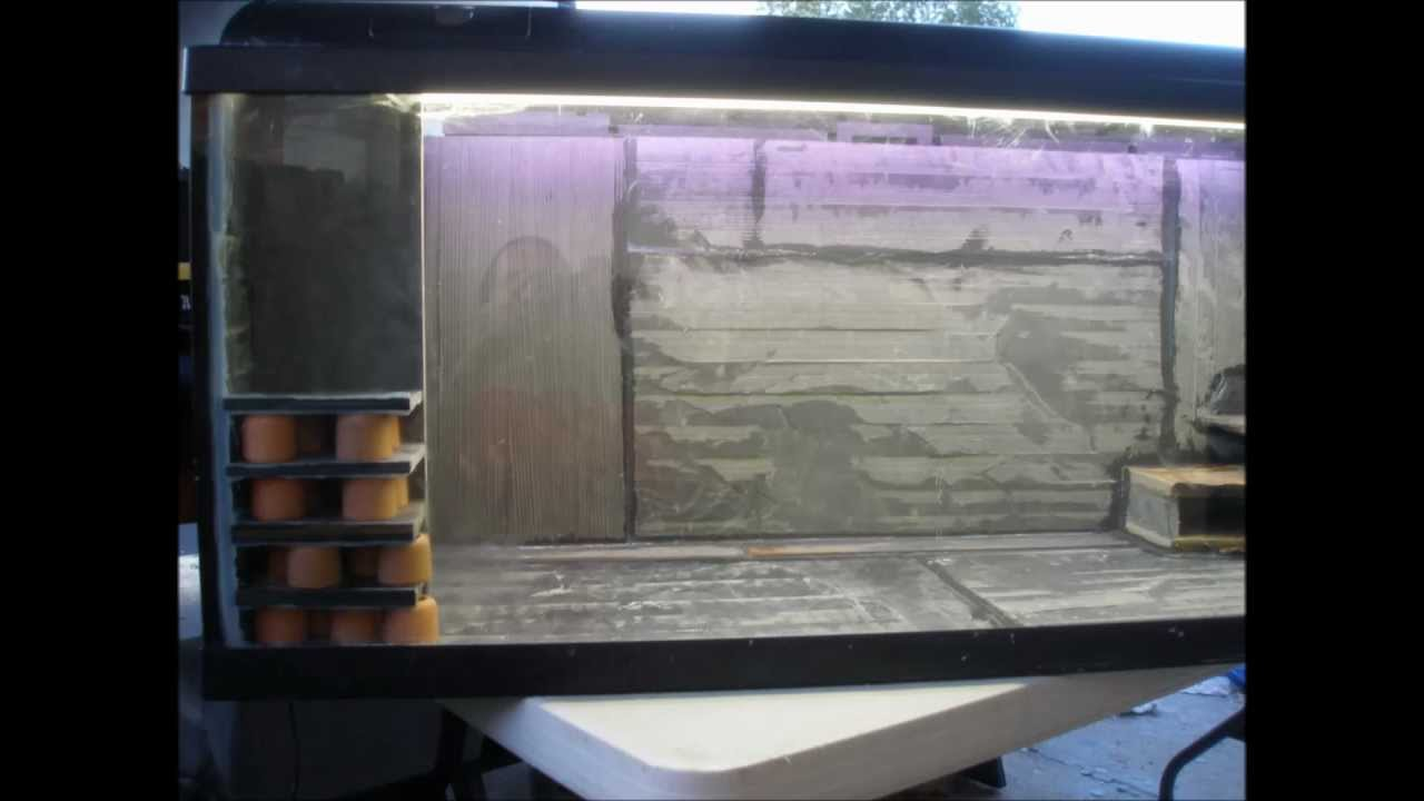 My home made slate fish tank design - YouTube