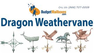 Budgetmailboxes.com | Good Directions 9672v1 Dragon Weathervane - Blue Verde Copper