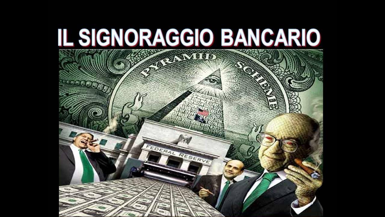 Risultati immagini per signoraggio bancario