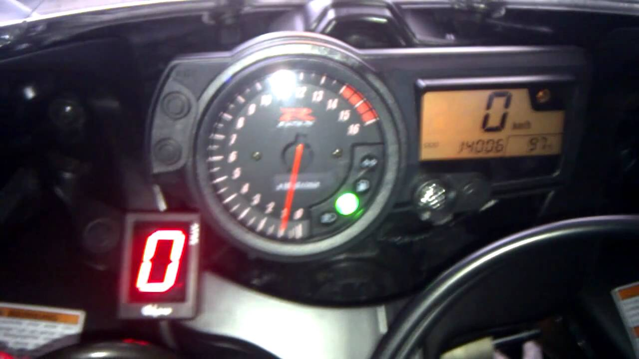 Suzuki Gsx R 750 K4 Gipro Ganganzeige Testlauf Youtube