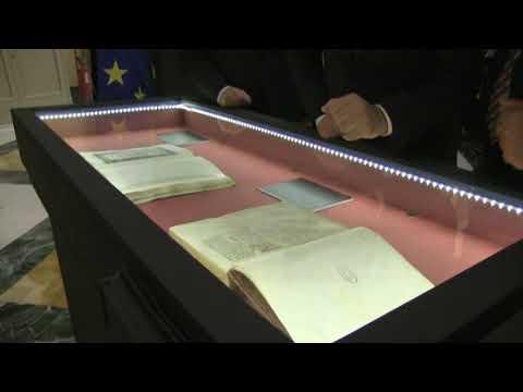 Inaugurazione mostra 'La fortuna di Dante - Manoscritti, libri, opere d'arte' - 11 ottobre 2018