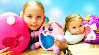 ОГРОМНОЕ ЯЙЦО ЕДИНОРОГА! Игры для девочек с RainBoCorns surprise.Классные видео для девочек.