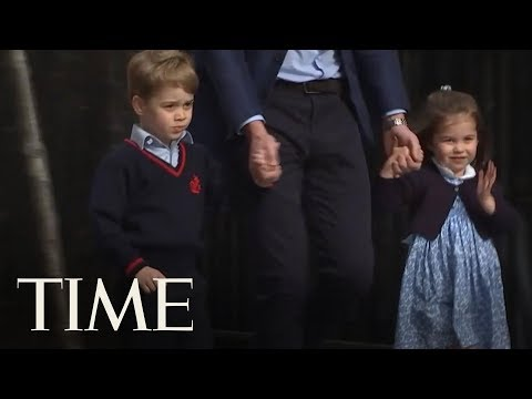 Prince George And Princess Charlotte Visit Their New Royal Sibling At The Hospital | TIME