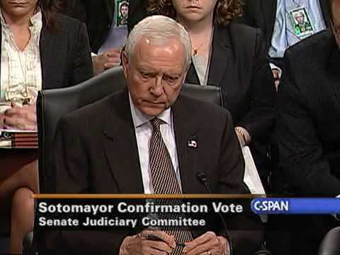 Senate Judiciary Cmte. Vote on Judge Sotomayor's Nomination