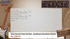 Have You Ever Seen The Rain - Creedence Clearwater Revival Guitar Backing Track with chords & lyrics