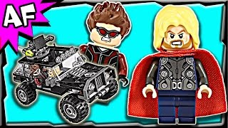Lego Avengers Duel With Hydra 76030 Marvel Super Heroes Stop Motion Build Review