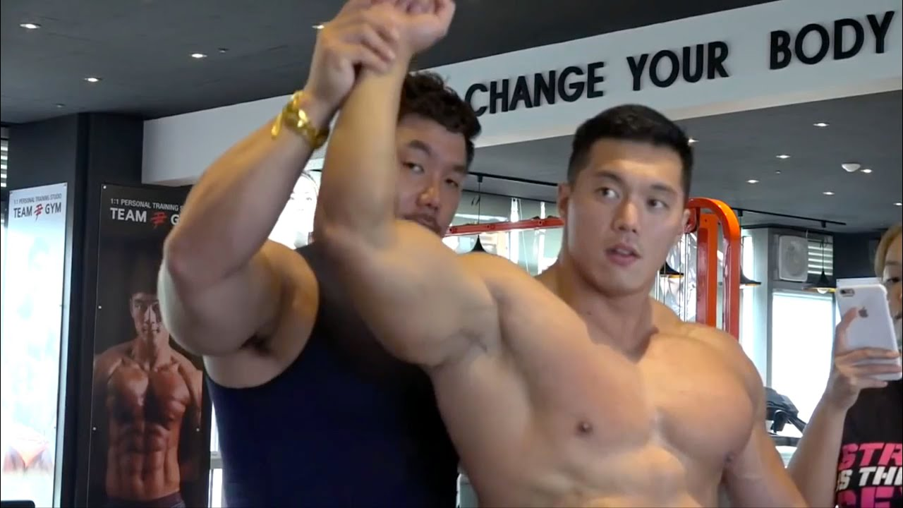 gay muscle Bodybuilder asian