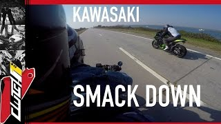 FAST BIKE SMACKDOWN KAWASAKI NINJA 1000cc RACE DUCATI MONSTER 800cc - 2UP ROASTING