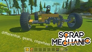 Scrap Mechanic Modpack - New functional parts - differential, gears, cogwheel coming! - Part 2