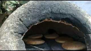 خبز داخل الفرن التقليدي   الفرق بين الحطب والبوطا غاز