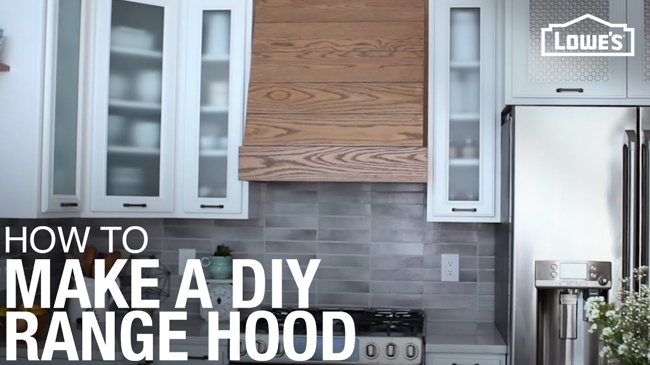 how to build and install a custom range hood youtube