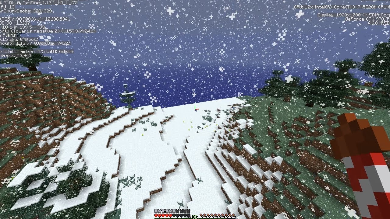 как сделать снег в майнкрафте не в снежном биоме #4