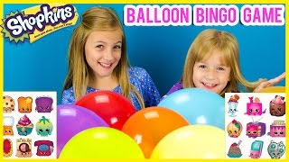 SHOPKINS SEASON 3 BALLOON SURPRISE BINGO GAME! 20 MYSTERY SHOPKINS BALLOON CHALLENGE BY PLP TV