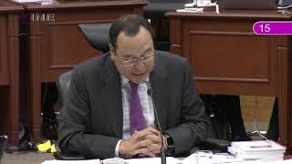 Intervención del Consejero Ciro Murayama sobre el Anteproyecto de Presupuesto del INE para 2019.